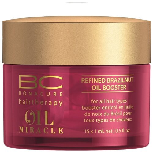 BC Bonacure Oil Miracle Brazilnut Oil Бустер для волос с маслом бразильского ореха, 15 мл