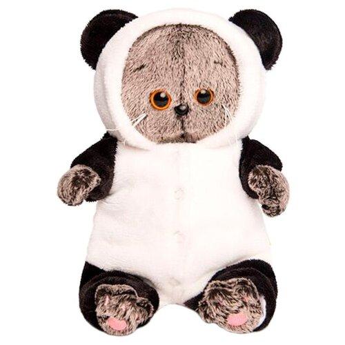 Купить Мягкая игрушка Basik&Co Кот Басик baby в комбинезоне Панда 20 см, Мягкие игрушки