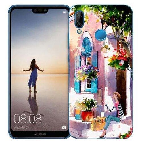 Чехол Gosso 710335 для Huawei P20 Lite девочка на цветущей улочке чехол для сотового телефона gosso cases для huawei p20 lite soft touch 186905 темно синий