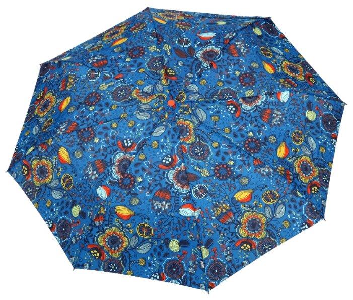 Зонт автомат Airton 3915 синий/цветы
