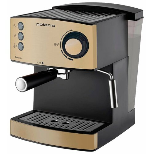 Кофеварка рожковая Polaris PCM 1527E Adore Crema бежевый/черный фото