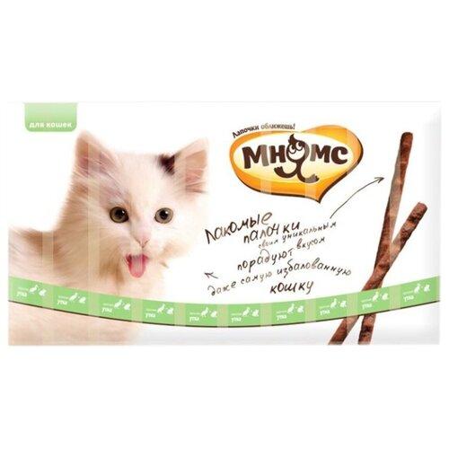 Лакомство для кошек Мнямс Лакомые палочки Утка, кролик, 5 г х 10 уп.