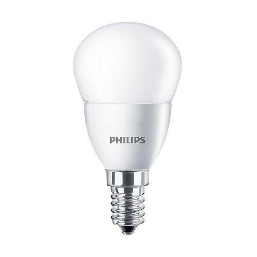 Лампа светодиодная Philips E14, P45, 4ВтЛампочки<br>