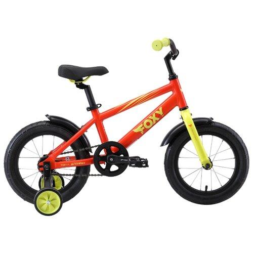Детский велосипед STARK Foxy 14 (2019) оранжевый/зеленый (требует финальной сборки) велосипед stark 20 foxy 14 girl бирюзовый розовый
