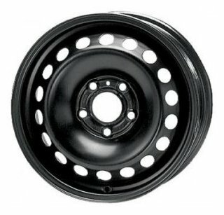 Штампованный диск ТЗСК Chevrolet Aveo 6x15/5*105 D56.6 ET39 Черный-глянец
