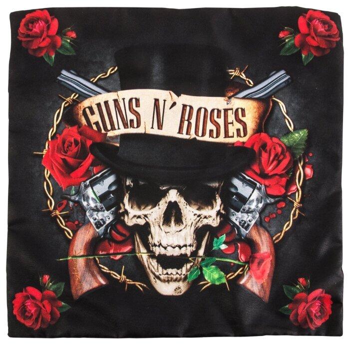 Чехол для подушки Gift'n'Home Guns N' Roses 40х40 см (НВЛ-40 GnR(g))