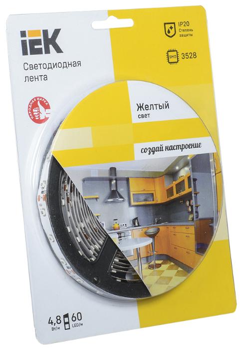 IEK Лента светодиодная ECO LED LSR-3528Y60-4.8-IP20-12V (уп.5м) жел. ИЭК LSR1-4-060-20-1-05