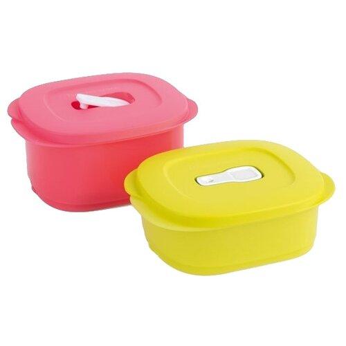 Tupperware Набор контейнеров Новая волна РП031 розовый/зеленыйКонтейнеры и ланч-боксы<br>