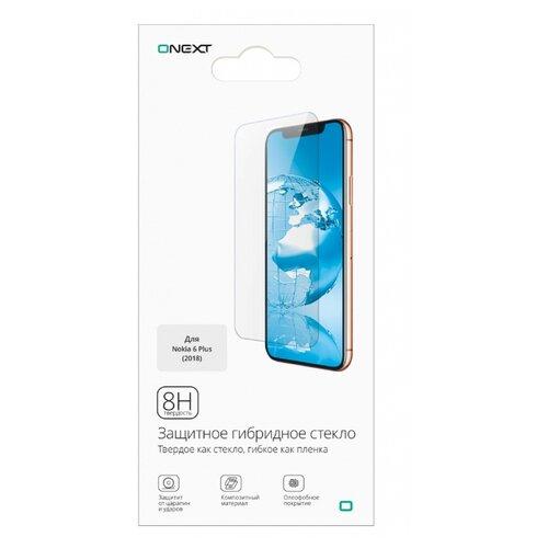 Защитное стекло ONEXT гибридное для Nokia 6 Plus прозрачный аксессуар защитное стекло для motorola moto e4 plus onext 41352