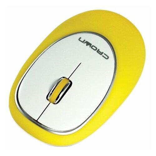 Мышь CROWN MICRO CMM-931W Yellow USB