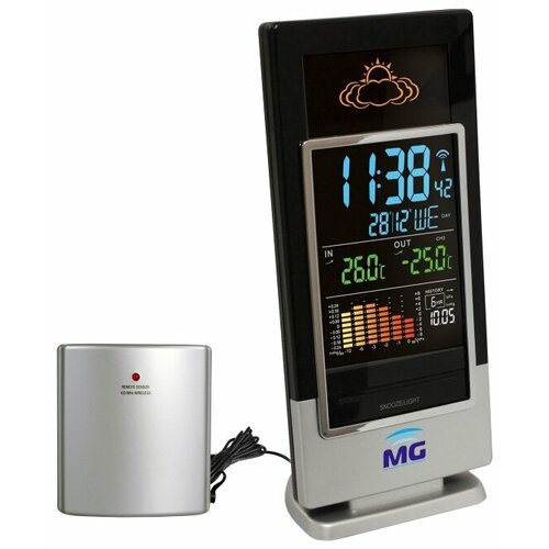 Метеостанция Meteo guide MG 01307 черный / серебристый погодная станция meteo guide mg 01309