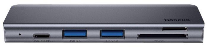 USB-концентратор Baseus Harmonica, разъемов: 5
