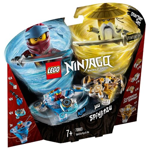 Купить Конструктор LEGO Ninjago 70663 Ния и Ву - мастер Кружитцу, Конструкторы