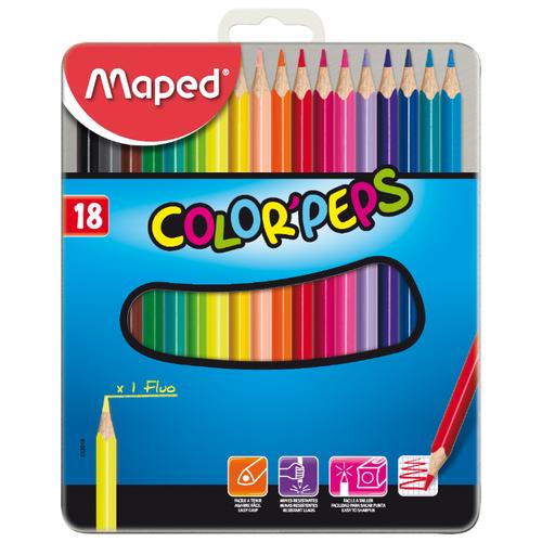 Купить Maped Цветные карандаши Color Peps 18 цветов, металлическая коробка (832015)