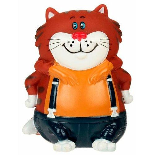 Купить Игрушка для ванной Играем вместе Кот (06LXST/R) коричневый/синий, Игрушки для ванной