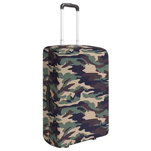 Чехол для чемодана JoyArty Армейский стиль L/XL, коричневый, зеленыйЧемоданы<br>