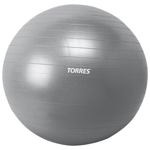 Фитбол TORRES AL100175, 75 см серебристый