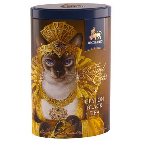 Чай черный Richard The royal cats подарочный набор, 80 г чай листовой richard royal ceylon dogs