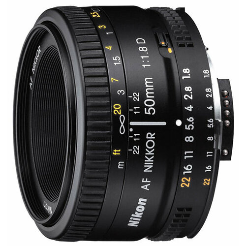 Объектив Nikon 50mm f/1.8D AF Nikkor объектив nikon 50mm f 1 4g af s nikkor jaa014da