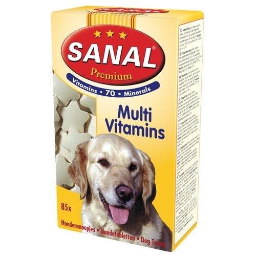 Добавка в корм SANAL Premium Multi Vitamins с пшеничными зародышами для собак и щенков 85 г