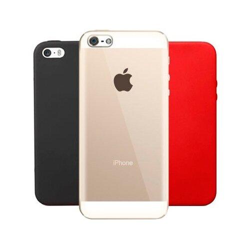 Чехол With Love. Moscow Комплект для Apple iPhone 5/iPhone 5S/iPhone SE (W000901APP) прозрачный/черный/красныйЧехлы<br>