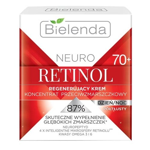 Крем-концентрат Bielenda Neuro Retinol восстанавливающий полужирный 70+ 50 млАнтивозрастная косметика<br>