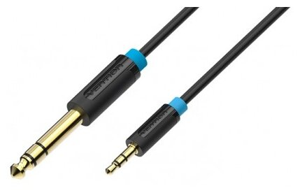 Кабель Vention Jack 6.3 mm M - Jack 3.5 mm M (BABB)