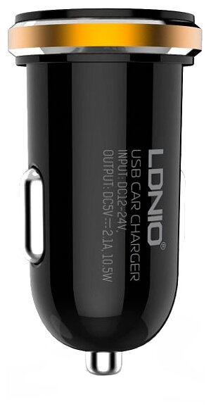 Автомобильная зарядка LDNIO DL-C22 + Micro USB