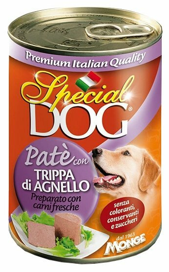 Корм для собак Special Dog (0.4 кг) 12 шт. Паштет Рубец Ягненка