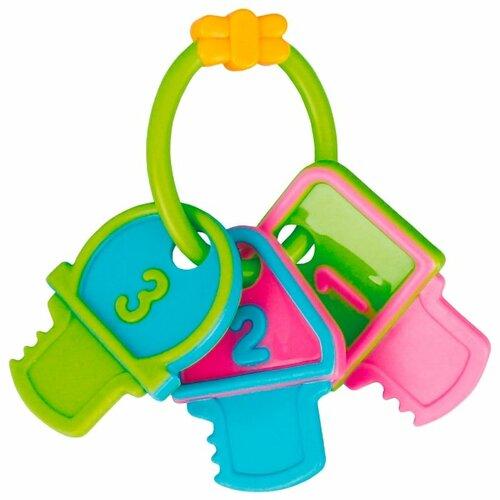 Прорезыватель-погремушка Canpol Babies Ключи 2/132 зеленые цифры canpol babies погремушка прорезыватель ключи с символами цвет голубой зеленый
