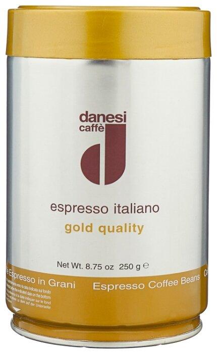 Кофе в зернах Danesi Gold, жестяная банка