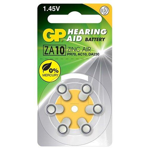 Батарейка GP Hearing Aid ZA10 6 шт блистер