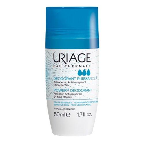 Uriage Eau Thermale дезодорант-антиперспирант, ролик, Power 3, 50 мл
