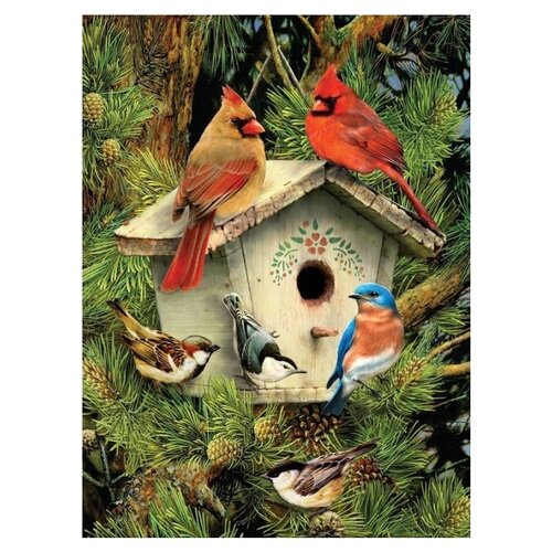 Royal & Langnickel Картина по номерам Птицы у скворечника 22x29 см (PJS70), Картины по номерам и контурам  - купить со скидкой