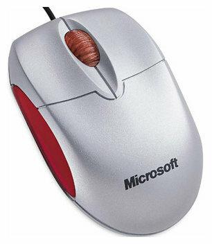 Мышь Microsoft Notebook Optical Mouse Silver-Red USB