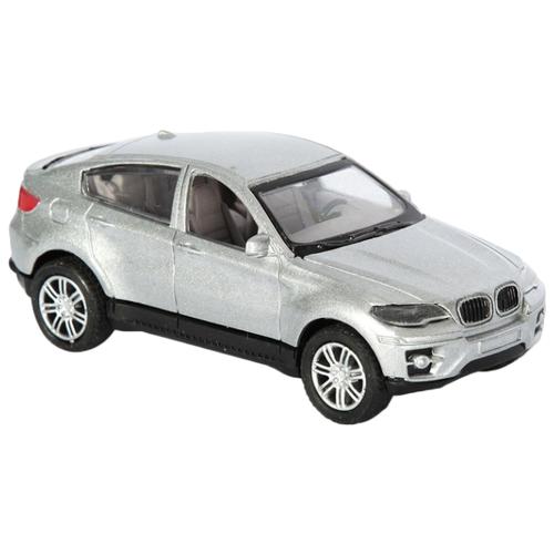 Купить Легковой автомобиль Handers BMW X6 (HAC1602-003) 1:43 14 см серебристый, Машинки и техника