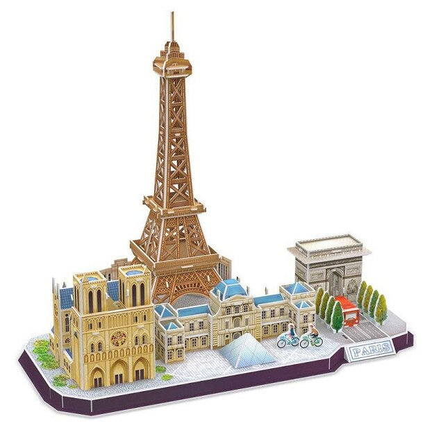 Пазл CubicFun Достопримечательности Парижа (MC254h), 114 дет.