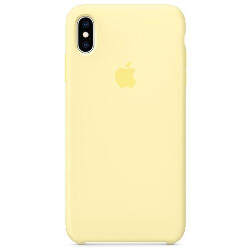 Чехол Apple силиконовый для Apple iPhone XS Max лимонный крем фото