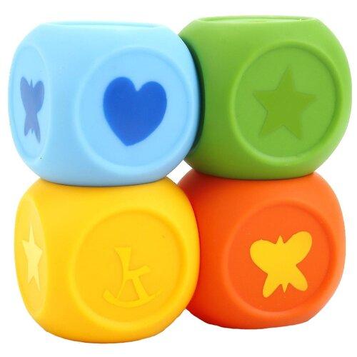 Фото - Набор для ванной Играем вместе Кубы (LXN1-2-3-6) желтный/зеленый/голубой/оранжевый набор для ванной играем вместе котенок гав и щенок 136r pvc белый оранжевый
