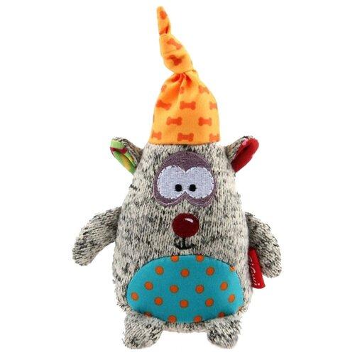 Фото - Игрушка для собак GiGwi Plush Friendz Мишка (75401) серый/оранжевый/голубой лежак для собак и кошек gigwi snoozy friendz кот 57х57х4 см серый