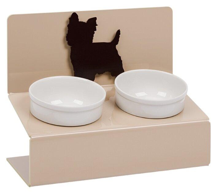 Миска для собак керамическая