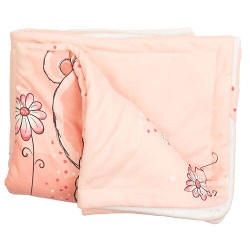 Купить Плед МиМиМи Мишки ПЛ50 70х105 см розовый/белый, Покрывала, подушки, одеяла