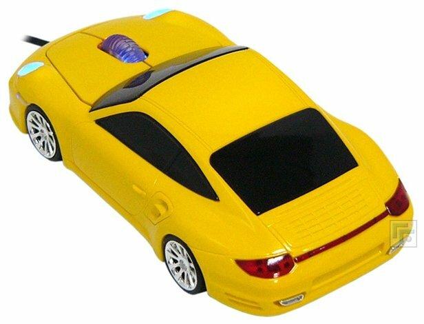 Мышь Qumo Q-DRIVE Porsche 911 Yellow USB