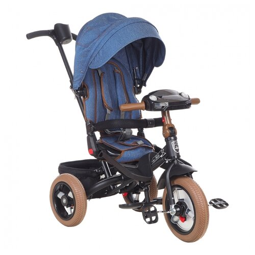 Купить Трехколесный велосипед Mars Mini Trike Transformer T400/2019, dark blue jeans, Трехколесные велосипеды