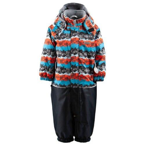 Купить Комбинезон KERRY WAVE K19012 размер 80, 6370 бирюзовый/оранжевый/черный, Теплые комбинезоны