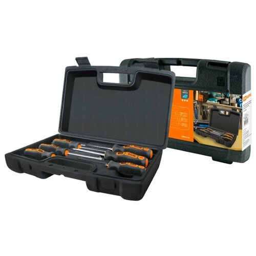 Набор отверток TDM ЕLECTRIC (6 шт.) SQ1013-0205 черный/оранжевый
