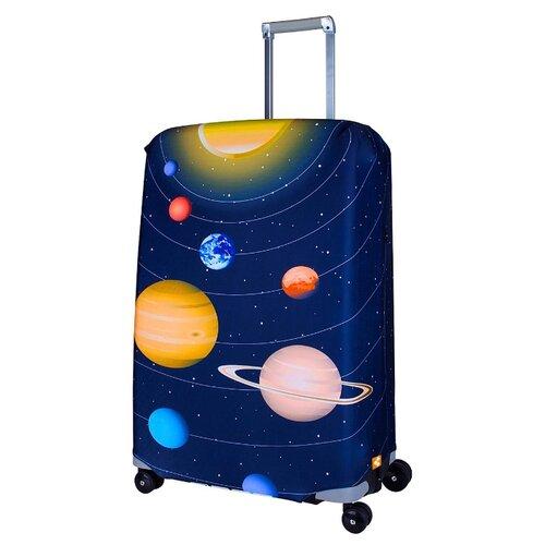 Чехол для чемодана ROUTEMARK Solar SP240 M/L, синий чехол для чемодана routemark inmotion размер m l 65 74 см