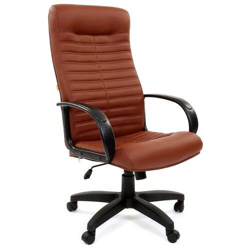 Фото - Компьютерное кресло Chairman 480 LT для руководителя, обивка: искусственная кожа, цвет: Terra 111 коричневый компьютерное кресло chairman 668 lt для руководителя обивка искусственная кожа цвет черный бежевый