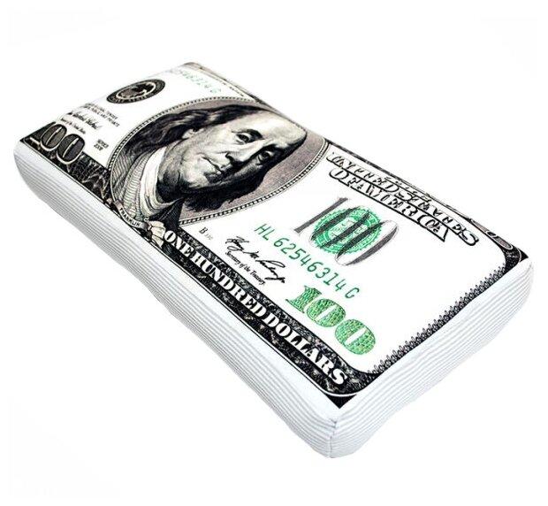 Подушка декоративная Мнушки Купюра 100 долларов 22х42 см (Ап08ден03)