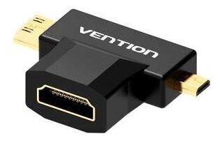 Переходник Vention HDMI 19F - Mini HDMI + Micro HDMI (AGDB0)